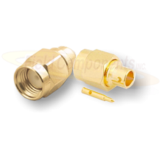 SMA Male Plug for .034 Semi-Rigid Cable Solder 50ohm DC-12.4 GHz Brass Gold Connector