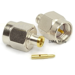 SMA Male Plug for RG405, .085 Semi-Rigid Cable .440 Length Solder 50ohm DC-18.0GHz Stainless Steel P
