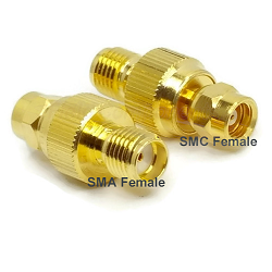 SMA Female to SMC Female Adapter Gold Plated Brass 50ohm