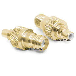 SMA Female Jack to SMC Male Jack Adapter Gold Plated Brass 50ohm