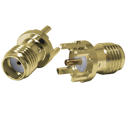 SMA Female Jack for Printed Circuit Board (PCB) 50ohm DC-12.4GHz Brass Gold Connector