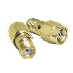 SMA Male Plug to SMA Female Jack Adapter Gold Plated Brass 50ohm