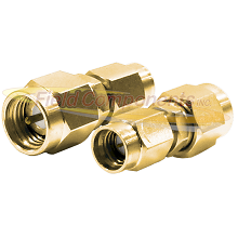 SMA Male Plug to SSMA Male Plug Adapter Gold Plated Stainless Steel 50ohm