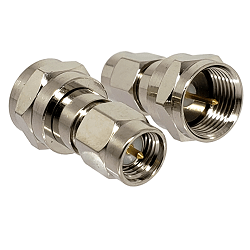 SMA Male Plug to F Male Plug Adapter Nickel Plated Brass 50ohm