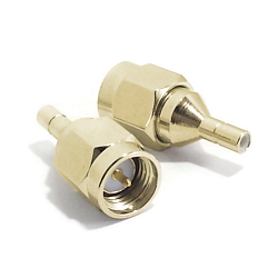 SMA Male Plug to SSMB Male Jack Adapter Gold Plated Brass 50ohm