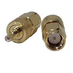 SMA Male Plug to SSMC Male Jack Adapter Gold Plated Brass 50ohm