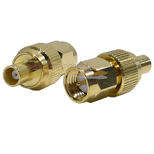 SMA Male Plug to MCX Female Jack Adapter Gold Plated Brass 50ohm