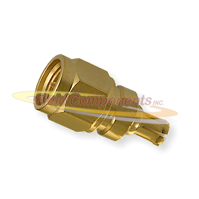 SMA Male Plug to MCX Male Plug Adapter Gold Plated Brass 50ohm