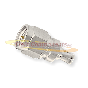 SMA Male Plug to MCX Male Plug Adapter Nickel Plated Brass 50ohm