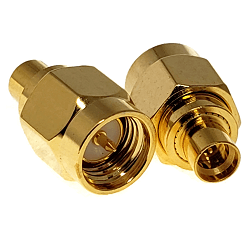 SMA Male to SMP Male with Full Detent Adapter Gold Plated Brass