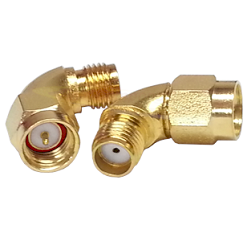 Radius Adapter SMA Male to SMA Female Gold Plated Stainless Steel 50ohm