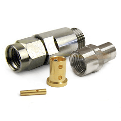 SMA Male Straight Connector For LL142 Cable Stainless Steel 18GHz