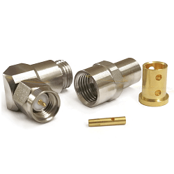 SMA Male Right Angle Connector For LL142 Cable Stainless Steel 18GHz