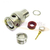 BNC Male Plug for RG55, RG58, RG141, RG223/U, RG400 Clamp 50ohm DC-4GHz Brass Nickel Connector