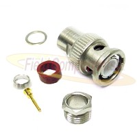 BNC Male Plug for RG55, RG58, RG141, RG223/U, RG400 Clamp 50ohm DC-4GHz Brass Silver Connector