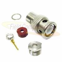 BNC Male Plug for RG174, RG179, RG187, RG188, RG316, LMR100A Clamp 50ohm DC-4GHz Brass Nickel Connec