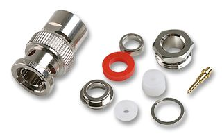 BNC Male Plug for RG59, RG62, RG71, RG71, RG140, RG210, RG302 Clamp 75ohm DC-4GHz Brass Nickel Conne