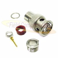BNC Male Plug for RG11/U Clamp 75ohm DC-1GHz Brass Nickel Connector