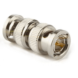 BNC Male Plug to BNC Male Plug Adapter Nickel Plated Brass 75ohm