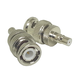 BNC Male Plug to QMA Female Jack Adapter Nickel Plated Brass 50ohm