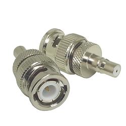 BNC Male Plug to QMA Female Jack Adapter Nickel Plated Brass 50ohm