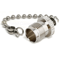 TNC Female Dust Cap with Chain Connectors