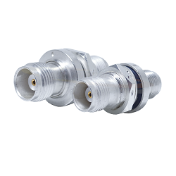 TNC Female Bulkhead Jack to TNC Jack Hermetically Sealed Adapter Passivated Plated Stainless Steel 5
