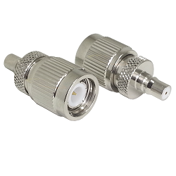 TNC Male Plug to QMA Female Jack Adapter Nickel Plated Brass 50ohm