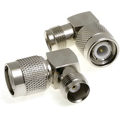 TNC Right Angle Male To TNC Female Adapter Nickel Plated 50ohm