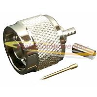 N Male Crimp Plug for RG179/U Crimp B22 75ohm DC-1.5GHz Brass Nickel Connector