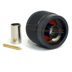 N Male Crimp for LMR-200 Black Oxide Plating