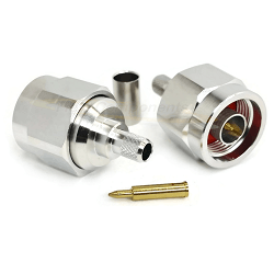 N Male Hex Style for LMR240, RG8X 6GHz Brass Plated Nickel