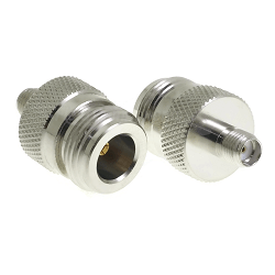 N Female Jack to SMA Female Jack Adapter Nickel Plated Brass 50ohm