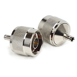 N Male Plug to 1.0/2.3 Female Jack Adapter Nickel Plated Brass 50ohm