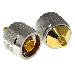 N Male Plug to MCX Female Jack Adapter Gold Plated Brass 50ohm