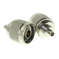 N Male to MCX Female Adapter Adapter Nickel Plated Brass 75ohm