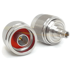N Male 75 Ohm To MCX 75 Ohm Female Adapter Passivated 6GHz