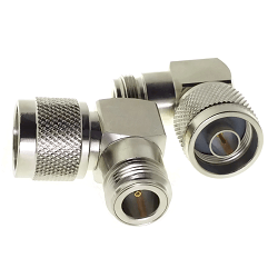 N Male Right Angle To N Female Adapter 75ohm Nickel Plated 3GHz
