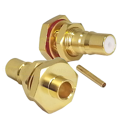 QMA Bulkhead Jack for RG402.141 Semi-Rigid Cable Connectors