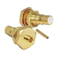 QMA Bulkhead Jack for RG405 085 Semi-Rigid Cable Connectors