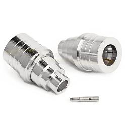 QMA Male Solder Plug for RG402, .141 Semi-Rigid Coax, Times TFT-402-LF