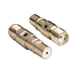 QMA Female Jack to SMA Female Jack Adapter Gold Plated Brass 50ohm