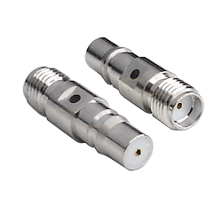 QMA Female Jack to SMA Female Jack Adapter Nickel Plated Brass 50ohm