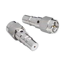 QMA Female Jack to SMA Male Plug Adapter Nickel Plated Brass 50ohm