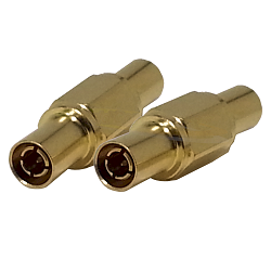 1.0/2.3 Male to Male Adapter Adapter Gold Plated Brass 50ohm