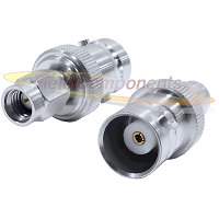 SSMA Male Plug to BNC Female Jack Adapter Passivated Plated Stainless Steel 50ohm