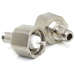 LT Male to N Female Adapter Nickel Plated Brass 50ohm