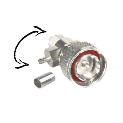 7/16 DIN Male Plug Combo Straight or Right Angle, FOR RG-8/X, CBL GRP X