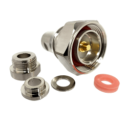 7/16 Din Male Clamp Connector For LMR300 Nickel Plated