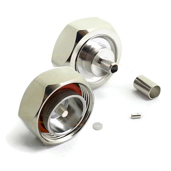 7/16 Male for LMR240 RG8X 8GHz Brass White-Bronze Connector